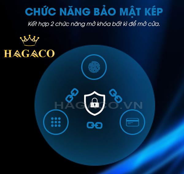 Tính năng bảo mật kép: Kết hợp cùng lúc 2 phương thức mở khóa