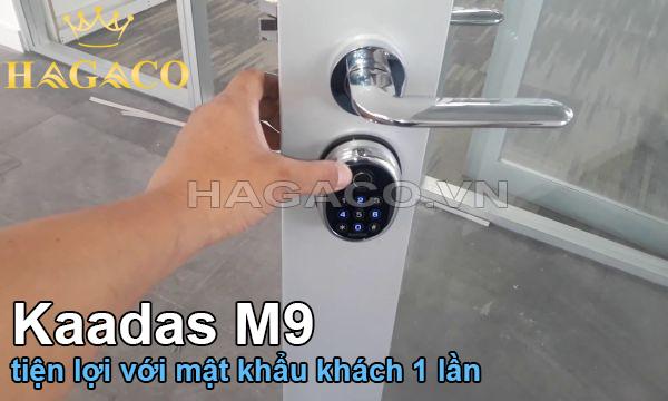 Khóa Kaadas M9 tiện lợi với mật khẩu khách 1 lần