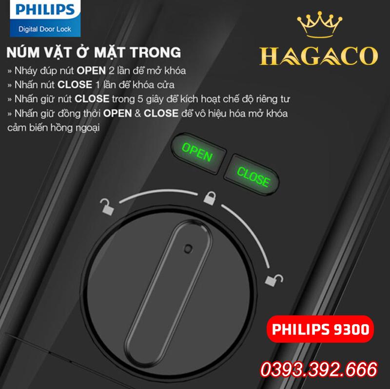Cách sử dụng núm vặn khóa điện tử Philips 9300