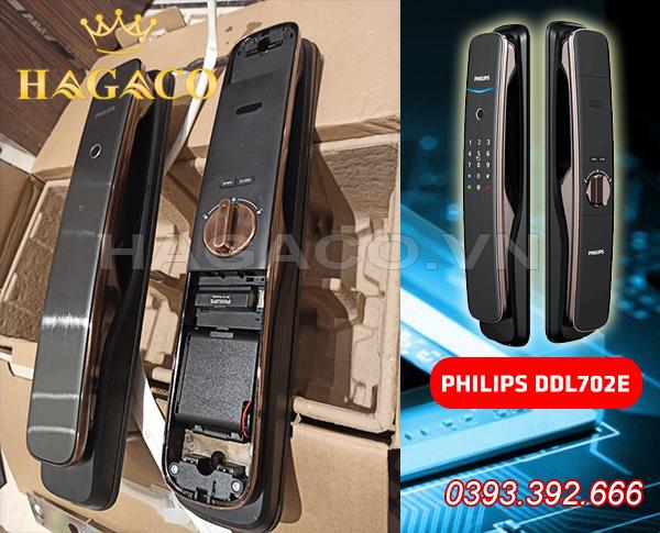 Hình ảnh thực tế đập hộp khóa điện tử Philips DDL702E