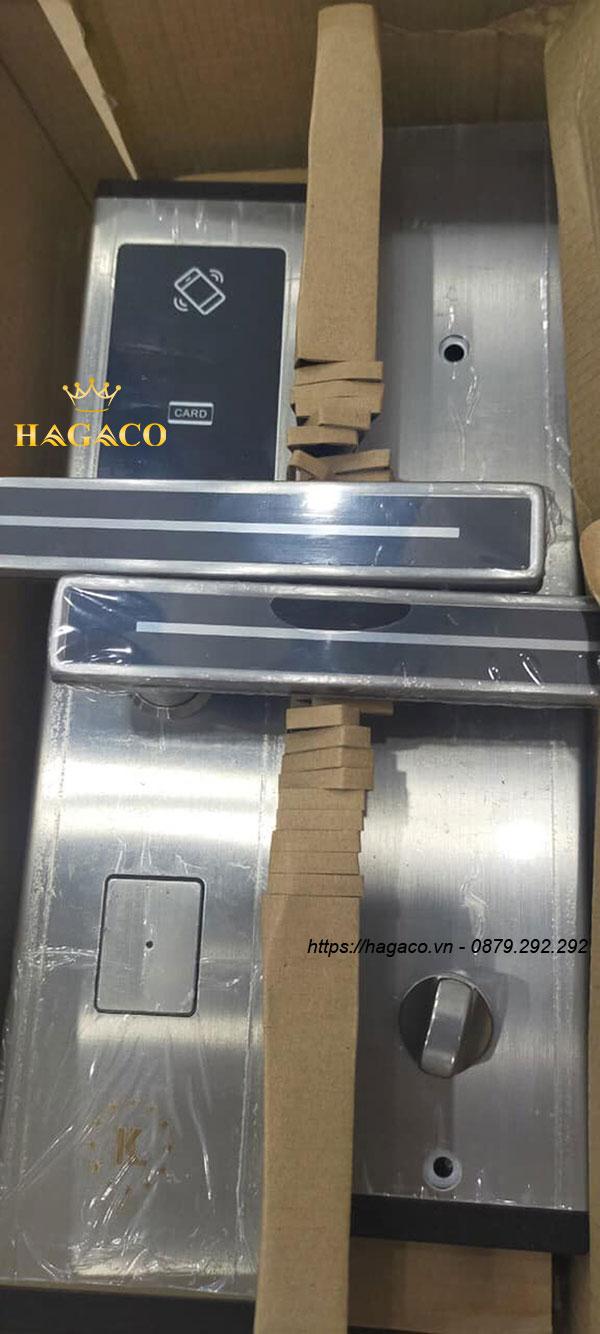 Khóa cửa Kassler KL-667 Sliver được làm từ thép không gì cao cấp