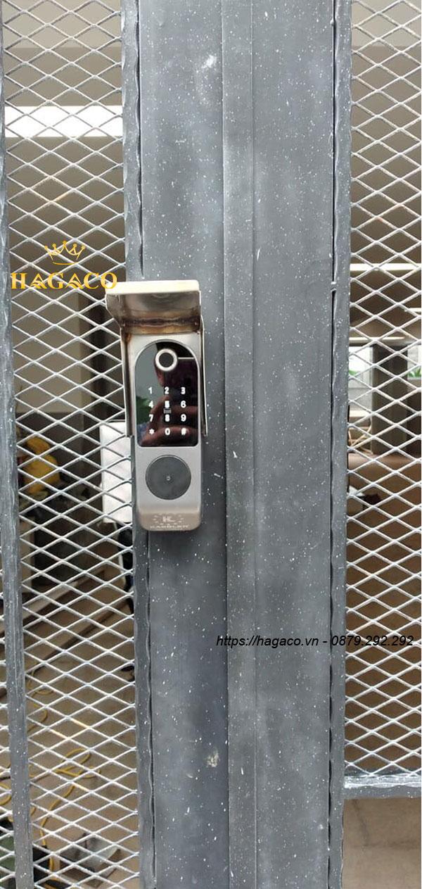 Khóa cổng sắt Kassler KL-579 vân tay 2 mặt
