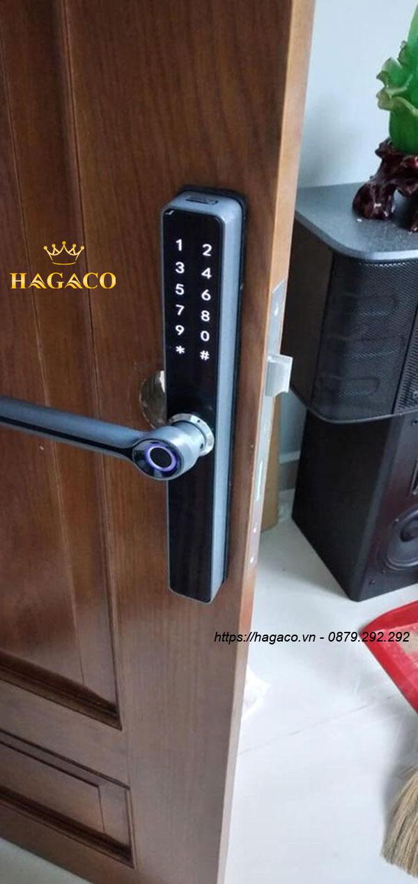 Kassler KL-599 Black vận hành bằng dấu vân tay, thẻ từ, mật mã, chìa cơ