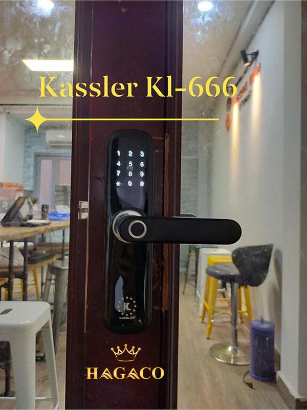 Khóa vân tay Kassler KL-666 sử dụng APP Bluetooth trong bán kính 20m