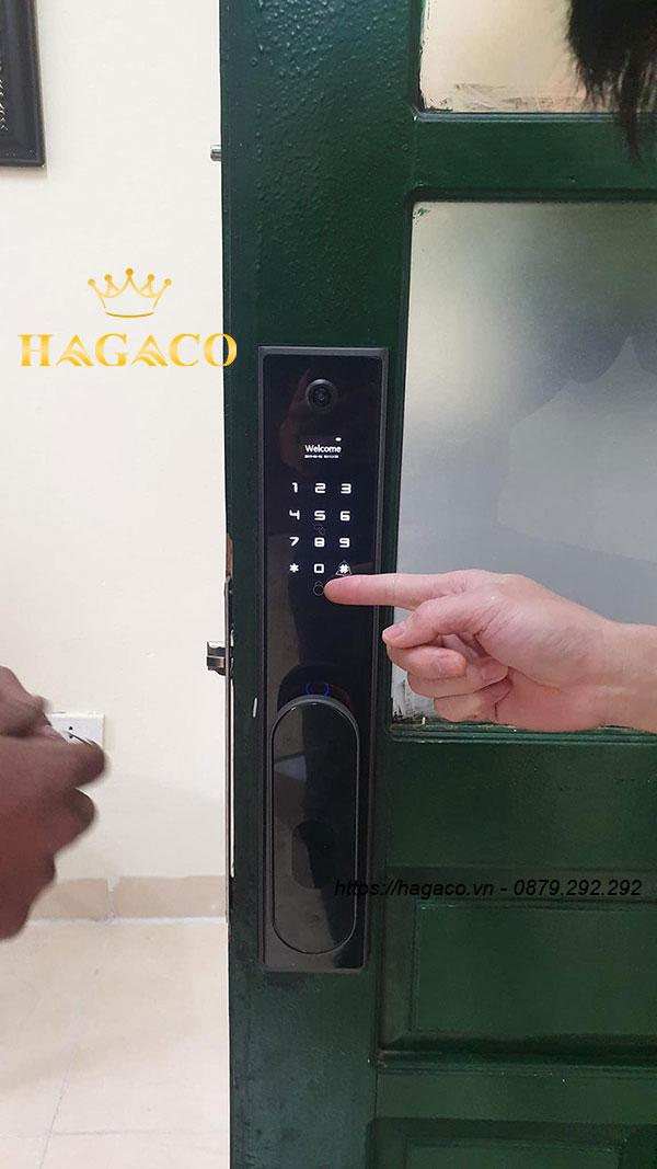 Mặt ngoài khóa vân tay Kassler KL-890 cho cửa gỗ