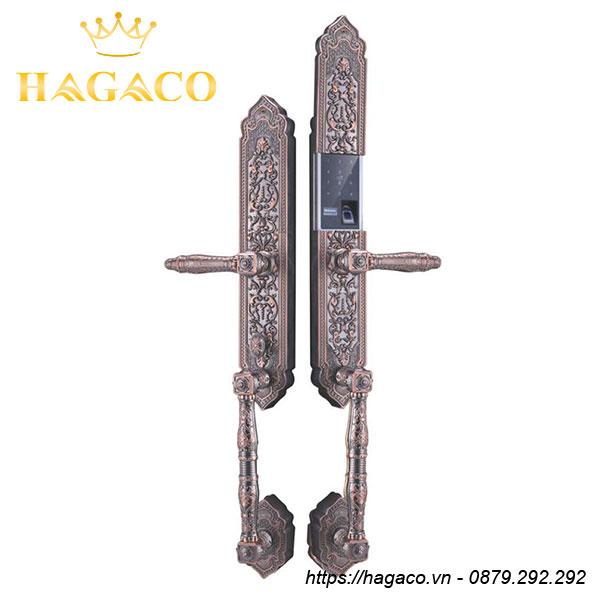 Khóa vân tay tân cổ điển Kassler KL-989 chính hãng, mẫu màu đồng