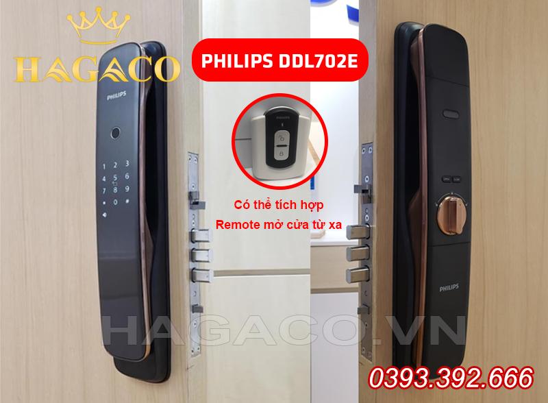 Mẫu mã thiết kế của khóa vân tay Philips DDL702E