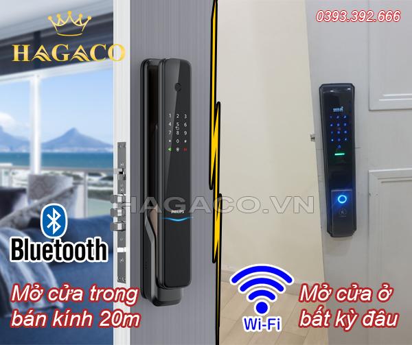 So sánh khóa cửa wifi và khóa của Bluetooth