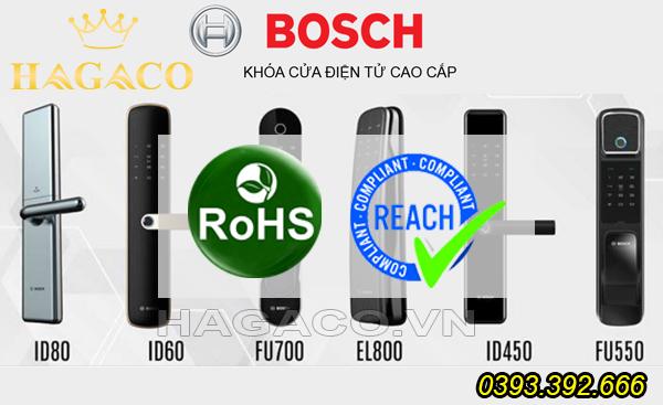 Khóa điện tử Bosch đạt chứng nhận RoHs và Reach