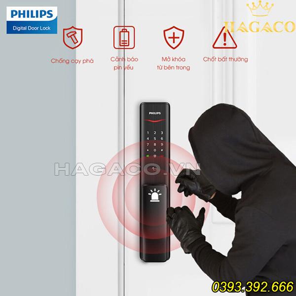Các tính năng cảnh báo của khóa điện tử Philips