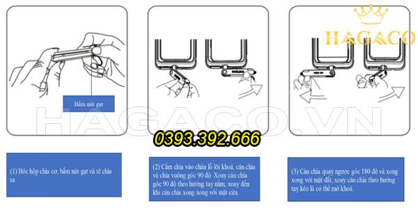 Cách dùng chìa cơ để mở khóa điện tử Philips