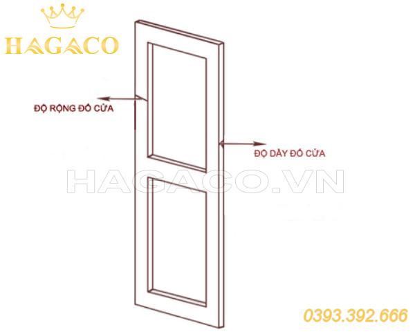 Mô tả đố cửa và bề dày cửa