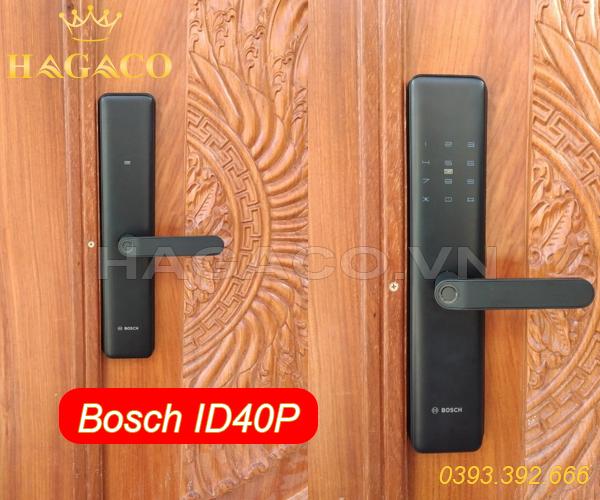 Khóa điện tử Bosch ID40P lắp cho cửa gỗ