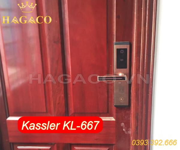 Khóa điện tử Kassler Kl-667 lắp cho cửa gỗ