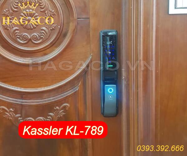 Khóa điện tử Kassler KL789 lắp cho cửa gỗ