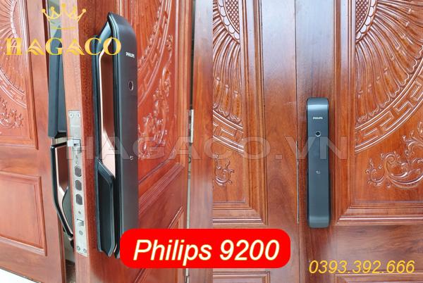 Khóa điện tử Philips 9200 lắp cho cửa gỗ