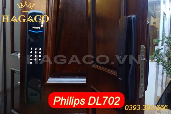 Khóa điện tử Philips DL702 lắp cho cửa gỗ