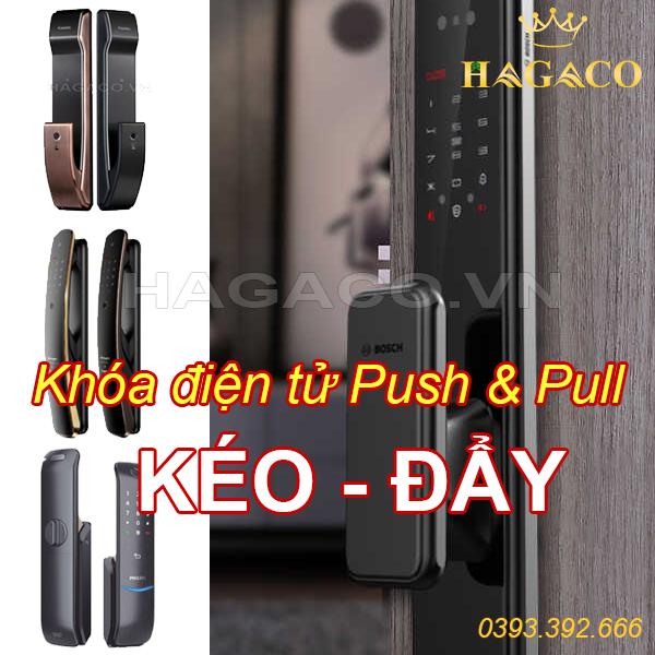 Khóa điện tử Push & Pull