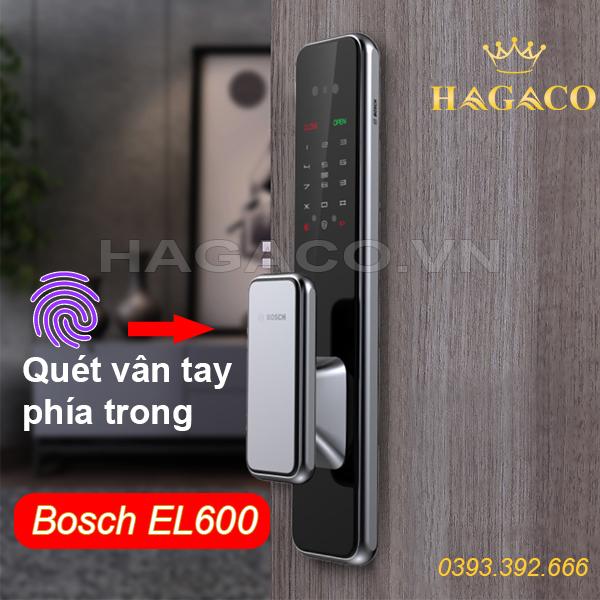 Khóa điện tử Bosch EL600 có vị trí quét vân tay phía trong tay cầm Push & Pull
