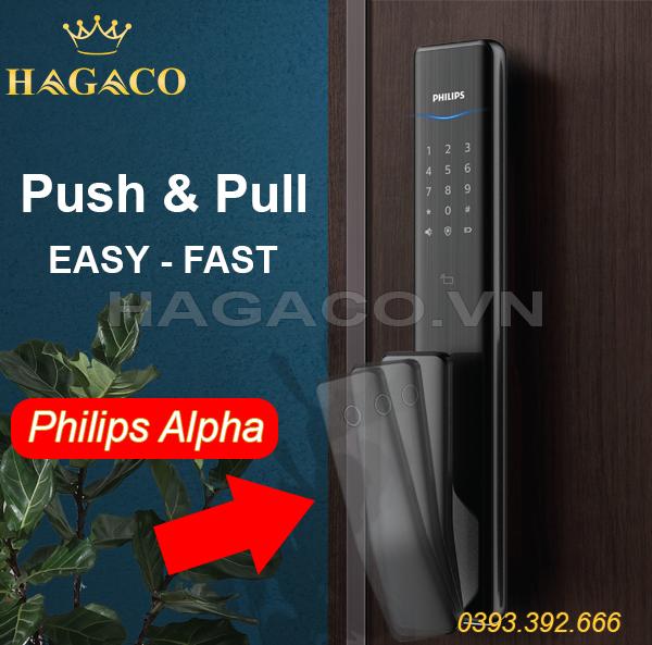 Khóa điện tử thông minh Push & Pull - tay nắm kéo - đẩy giúp mở cửa nhanh hơn, dễ dàng hơn