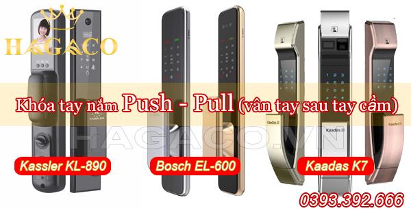 Các mẫu khóa Push - Pull có vân tay sau tay cầm