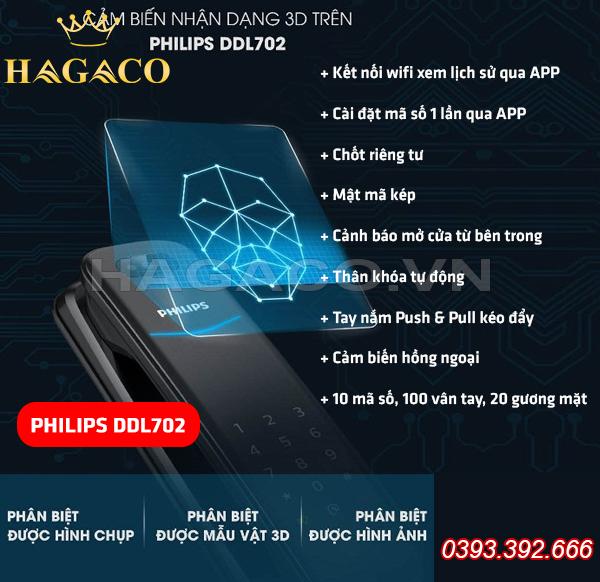 Khóa vân tay Philips DDL702