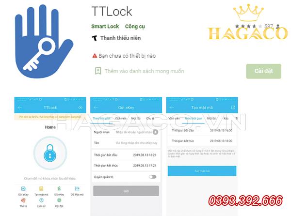 App TTLock để cài đặt và quản lý khóa điện tử thông minh