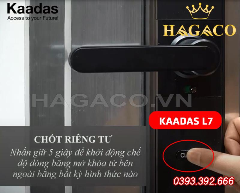 Chế độ tránh làm phiền của khóa Kaadas L7