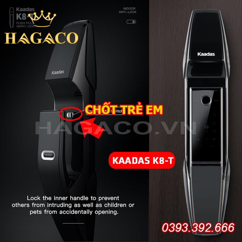 Khóa Kaadas K8-T có chốt an toàn trẻ em