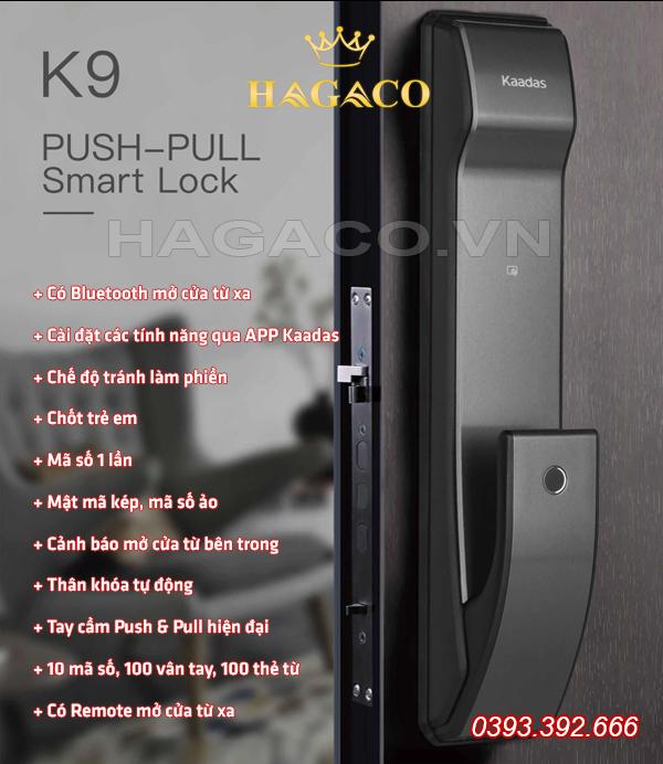 Khóa vân tay Kaadas K9 - đáng mua nhất