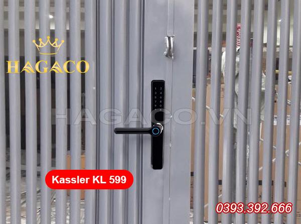 Lắp khóa vân tay Kassler KL 599 cho cổng sắt
