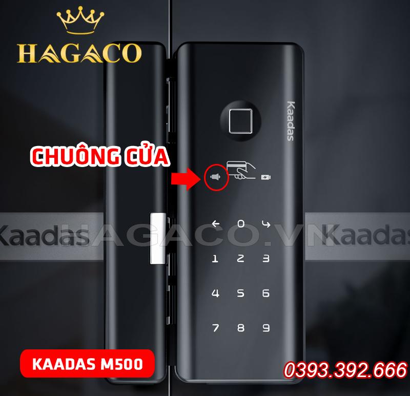 Khóa điện tử Kaadas M500 dành cho cửa kính có chuông cửa