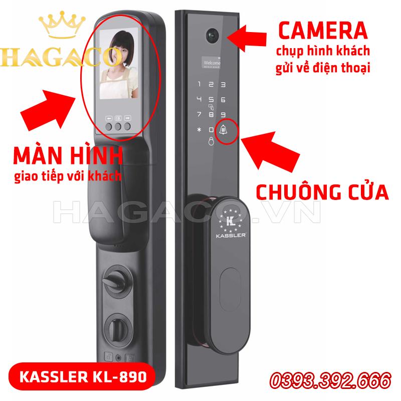 Khóa điện tử Kassler KL-890 có chuông màn hình