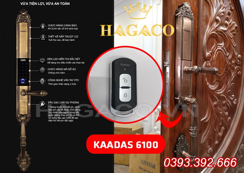 Khóa cửa đại sảnh Kaadas 6100 có Remote cầm tay