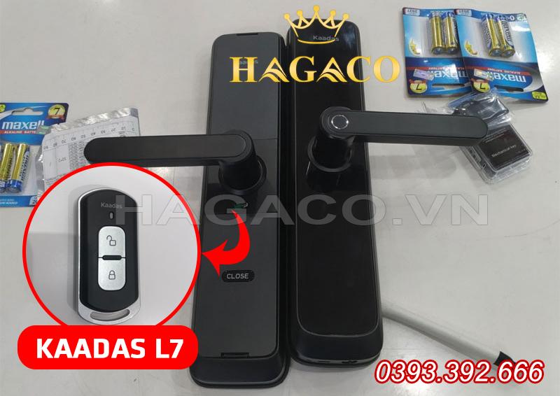 Khóa Kaadas L7 có thể tích hợp thêm Remote cầm tay