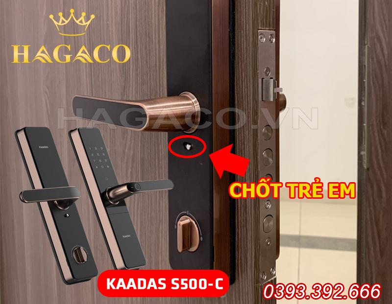Khóa Kaadas S500-C có chốt trẻ em