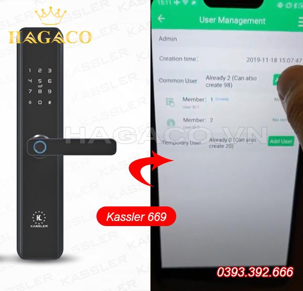 Khóa điện tử Kassler dễ dàng kết nối với Bluetooth để điều khiển bằng điện thoại
