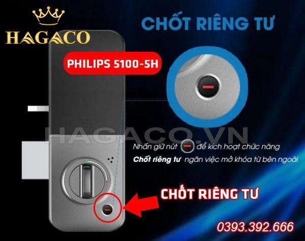 Khóa Philips 5100-5H có tính năng chốt riêng tư