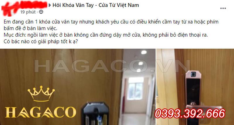 Thảo luận trên nhóm Group Khóa Vân Tay - Cửa Từ Việt Nam