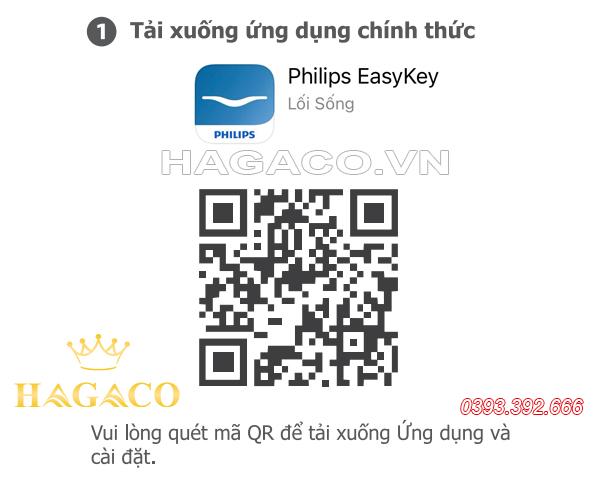 Quét mã QR để tải APP Philips EasyKey