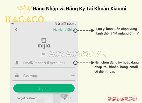 Đăng ký tài khoản Xiaomi