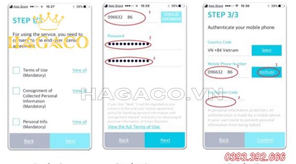 Các bước đăng ký tài khoản dùng APP Samsung Smart Doorlock