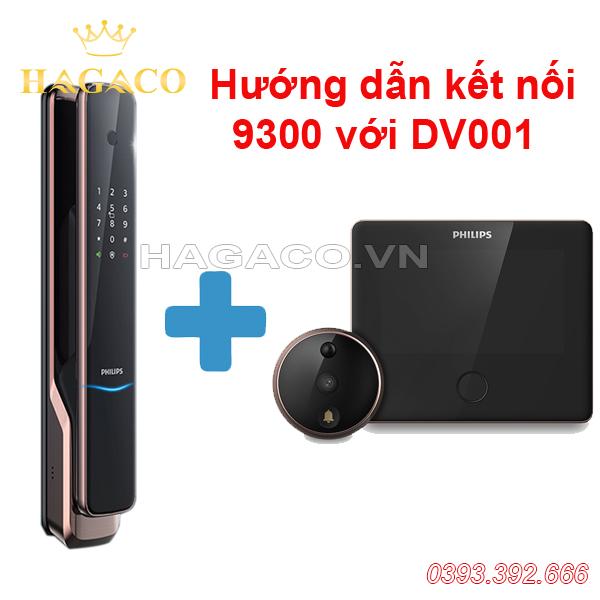 kết nối khóa Philips 9300 với chuông hình DV001