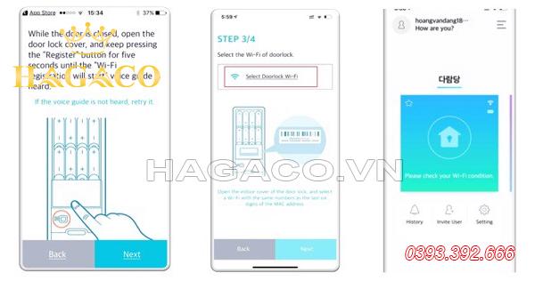 Hướng dẫn kết nối khóa Samsung với Wifi