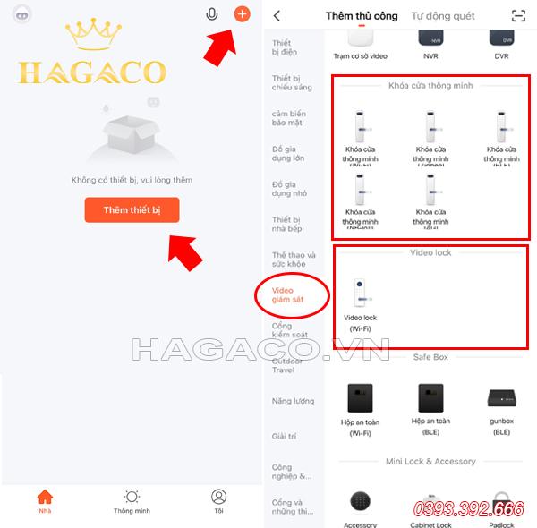 Kết nối APP Tuya với khóa điện tử
