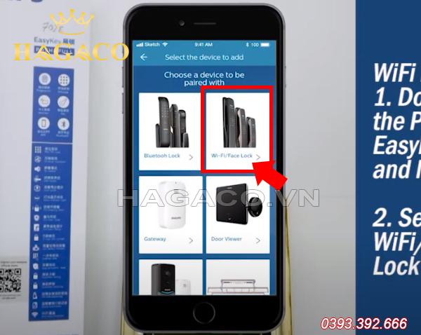 Kết nối APP Philips EasyKey với khóa wifi Philips