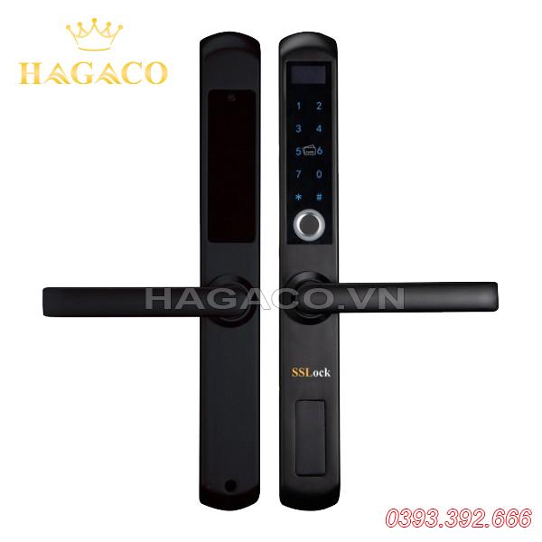 Khóa cửa vân tay cửa nhôm SSLock AG211-FACP (có wifi)