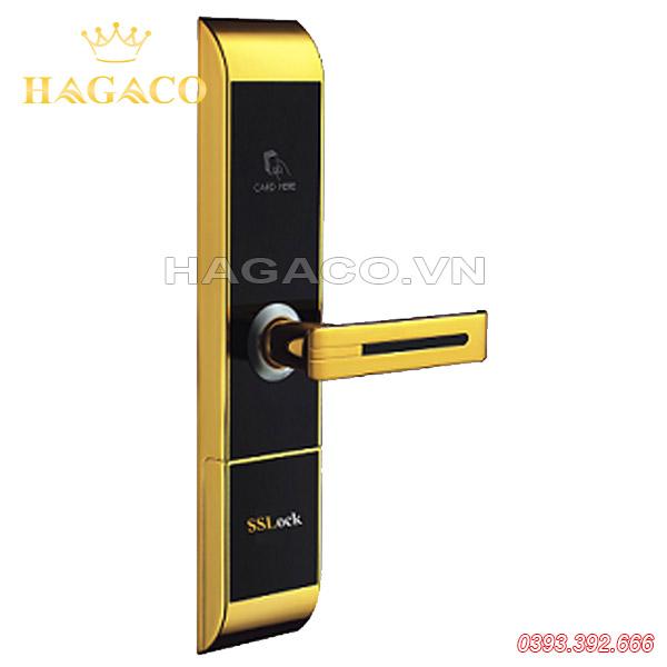 Khóa thẻ từ khách sạn SSLock HC87-C màu vàng