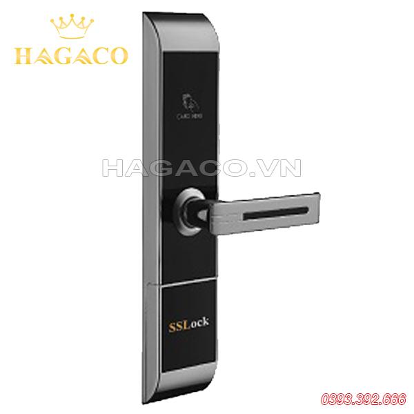 Khóa thẻ từ khách sạn SSLock HC87-C màu bạc