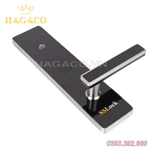 Khóa thẻ từ khách sạn SSLock HW313-C viền bạc